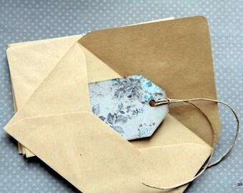 Kraft envelopes for deco, scrapbooking, stationery ... 9cm x 14cm Lot of 85