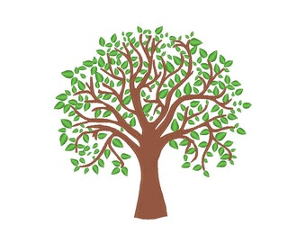Tree Embroidery Machine Design