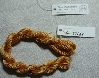 Beaded wire No. 12 HOUSE OF EMBROIDERY collar 10 c Oak