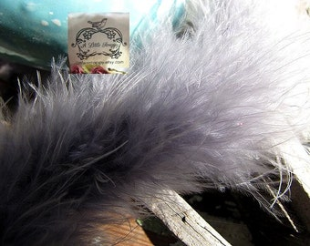 Medium Grey Marabou Boa Feathers