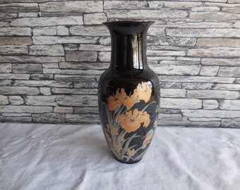 Vintage contintal painted pottery vase