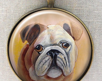 English Bulldog Keychain Dog ~ Bulldog Keychain ~ Birthday Gift ~ Gifts for Him ~ Pet Keepsake