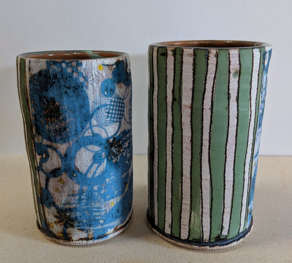 Handmade Ceramic Cup Pair