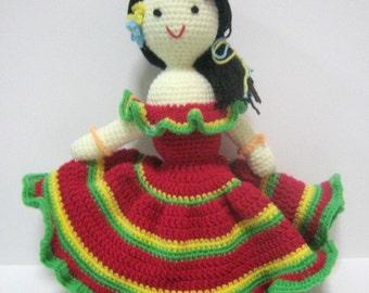 Doll Crochet Pattern Crochet Amigurumi Pattern PDF Instant Download Spanish Lady Dancer Shakira