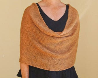 knit infinity scarf wrap cowl snood in terracotta