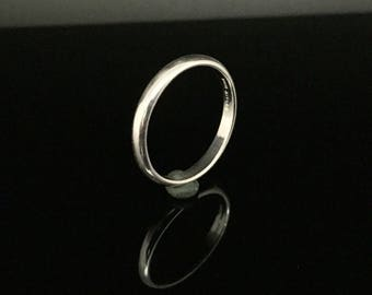 3mm Silver Band Ring // 925 Sterling Silver // Handmade // Silver Band Ring // Silver Wedding Ring // Plain Band Ring // Thin Silver Band