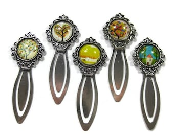 Tree Glass Cabochon  Book Mark Choose One (S2)