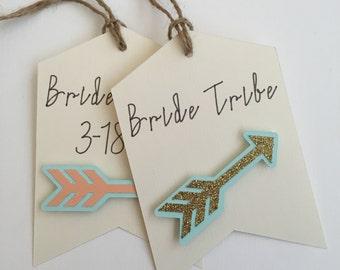 Boho Bridal Shower Favor Tag, Bride Tribe Favor Tags, Bridal Shower Gift Tags, Will You Be My Bridesmaid, Bohemian Wedding Decor