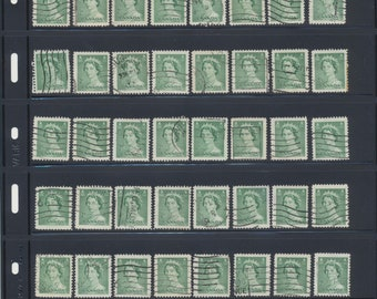 Lot of 10 used QEII 2-cent stamps
