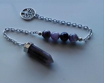 Amethyst Pendulum- Spirit Communication Pagan Witch Talk Gemstone (452)