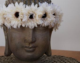 White TeddyBear Sunflower Crown