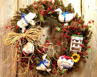 French Country Wreath Sale Was 95.00 Now 65.00