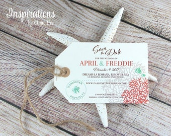 Save the date luggage tags, luggage tags, save the dates, tags