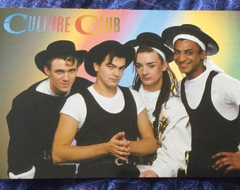 Very Rare Culture Club Postcard