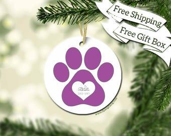 Personalized Pet | Memory Of Pet Gift | Pet Memorial | Dog Gift | Cat Gift | Pet Memorial | Cat Lover | Dog Lover | Loss of a Pet | Pawprint