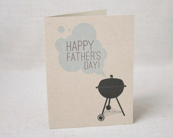 Happy Father's Day Grill Card / Father's Day Card / Fun Card Just for Dad / Card for Husband / BBQ Card / Funny Father's Day Barbecue Card