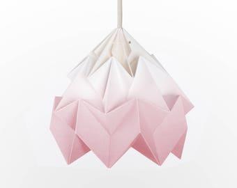 origami lamp shade Moth gradient blush pink