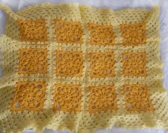 """Crochet Baby Blanket """"Sunshine"""""""