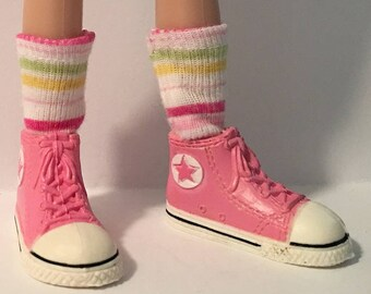I Love My Pastel Stripes...Short Socks For Blythe...