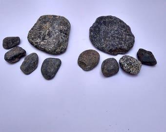River Stones, Natural River Pebbles, Beach Stones, 6 Pcs Pebbles Set, River Rocks, Natural River Stones for Gardening, Terrarium Decoration