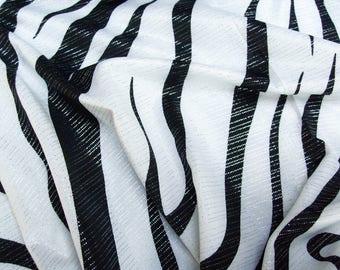 Jersey Zebra 60924 in black and white with fine Lurexstreifen