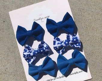Pigtail hairbows, spring hair bows, baby and kids bows