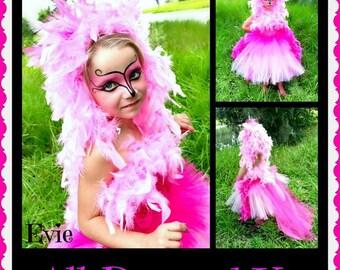 Pink Flamingo Costume - Pink Flamingo Tutu Dress - Pink Flamingo - Costume Pink Flamingo - Flamingo Costume - Pageant Costume for Girls