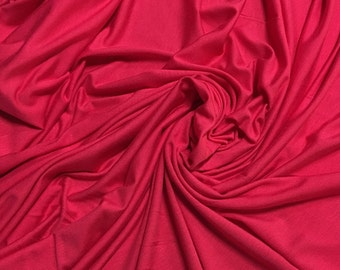 """Modal Spandex Jersey Premium Knit Fabric Eco-Friendly 4 yards lenght by 60"""" wide Hot Pink 9.5 oz"""