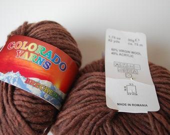 2 balls Shade Colorado yarns,brown.