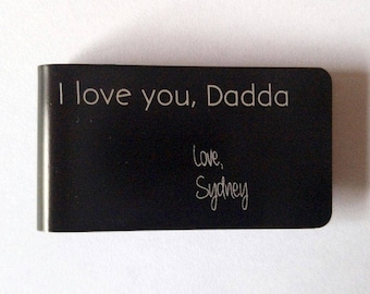 Father's Day gift, Father's Day present, dad gift, man gift, dad present, dad money clip, Personalized money clip, Money clip, Money wallet
