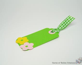 lot 10 - little flowers Collection - green Easter delivery gift tags