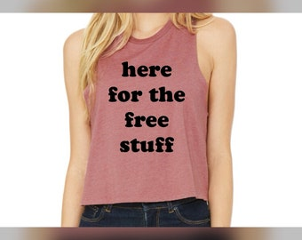 here for the ... womens cropped tank