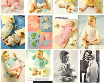 Vintage Baby Knitting and crochet patterns in PDF instant download version , ebook vintage