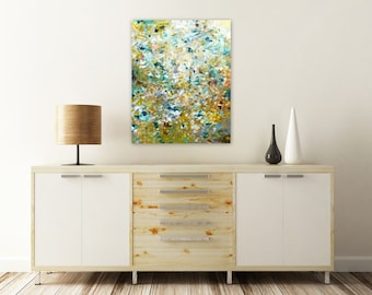 Original Abstract Painting - Abstract Impressionist Painting, Acrylic Painting, 20x24 Canvas Wall Art, Earth Tones Abstract, Modern Art