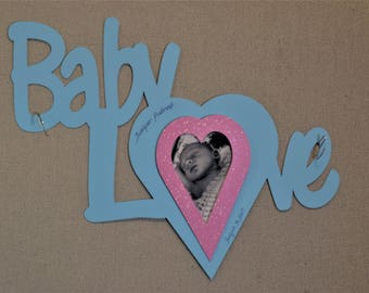 Baby Love Word Custom Cut Matboard Word