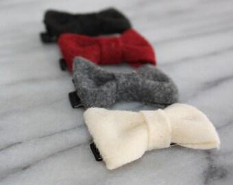 Christmas Holiday Felt Mini Bow Hair Clip Set, Girls Accessories