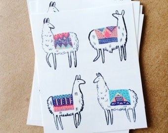 valentine tattoos for kids llama temporary tattoos valentines day gift for children colorful southwest tattoo llamas with woven blankets