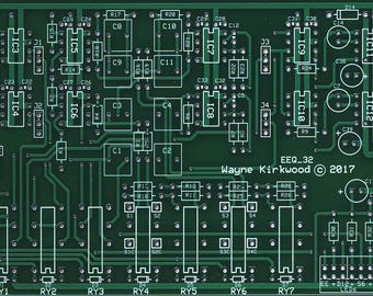 Elliptic Equalizer (Bass-to-Mono) for Vinyl Mastering, Vinyl Playback and Headphone Crossfeed. Bare PC Board