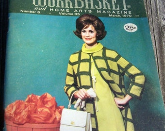 """Vintage 1970 Featuring Rod Serling Twilight Zone """"The Workbasket & Home Arts"""" Magazine"""