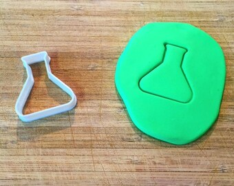 128. Erlenmeyer Flask Cookie Cutter, Science Cookie Cutters, Fondant Cutters, 3D Printed