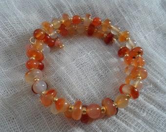 Carnelion Memory wire Bracelet