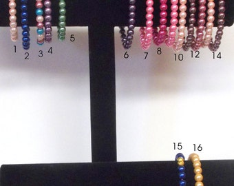 Stretchy Bracelets, Faux Pearls - Everyday Wear ... Lots of Color, Wear More Than One, Your Coice or Mine - I Pick, You save money and get 2