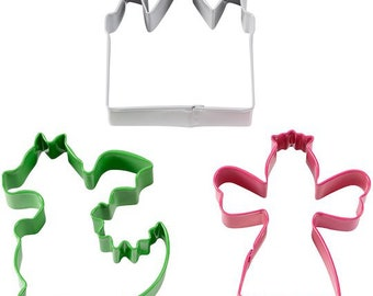 Fantasy Cookie Cutter Set - Wilton Cookie Cutters - Fantasy Cookie Cutters - Castle, Dragon, Princess Cookie Cutters