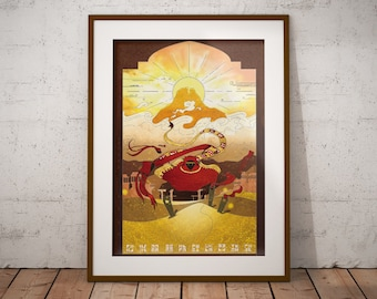 Journey - Art Print - Poster - Journey the Game Fanart - Journey Artwork - Gamer Gift - Video Game Decor - Video Game Wall Art