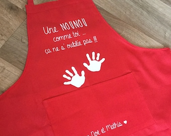 Nanny apron personalized kitchen name or other...