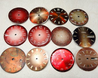Vintage Watch Faces - set of 12 - c56