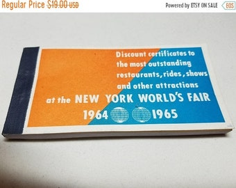 30% Off Sale New York Worlds Fair 1964 Discount Certificates Book of Coupons