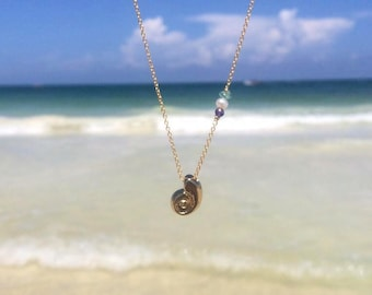 Necklace Seashell Little Mermaid-mermaid-inspired sea shell necklace