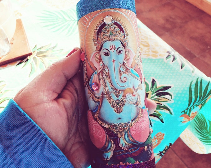 Ganesh Remover of Obstacles | 7 day candle for Prosperity, Wisdom, Spirituality | Cleansed, Charged, Consecrated | Loaded Fixed Candle