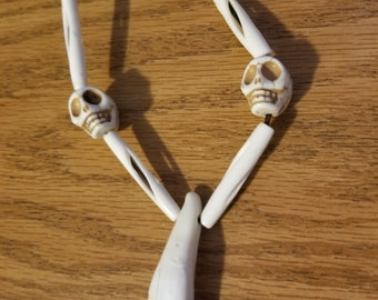 Skull and bones necklace
